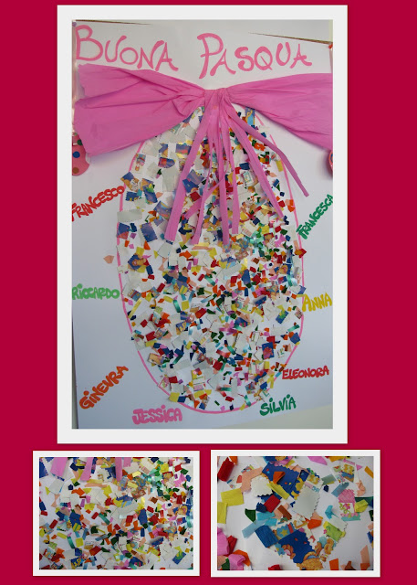 photo of: Reggio Emilia Art Project for Spring, Easter Egg collage