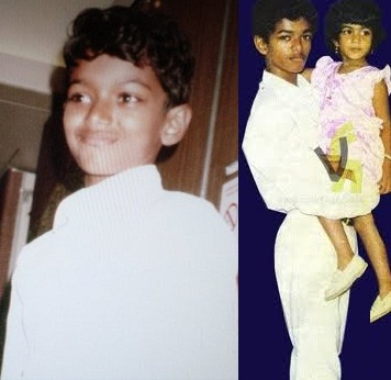 Vijay with his Sister