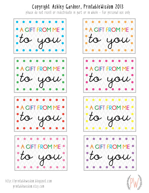 Free printable gift tags from PrintableWisdom