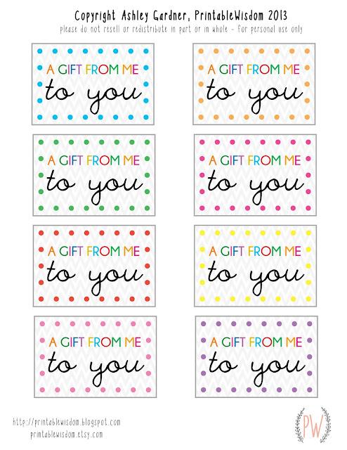 Free printable gift tags from PrintableWisdom