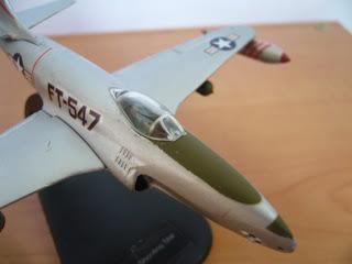 maquetismo en miniatura del Jet Lockheed P-80/F-80 Shooting Star de la WWII