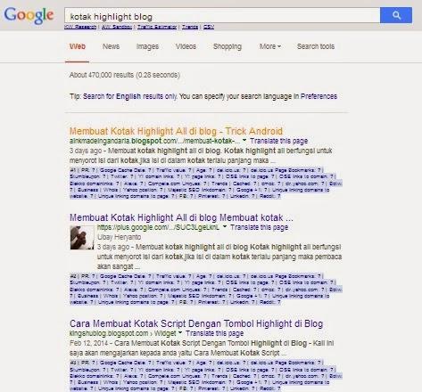 search organic google