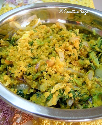 palak(spinach)besan(chick pea flour)curry