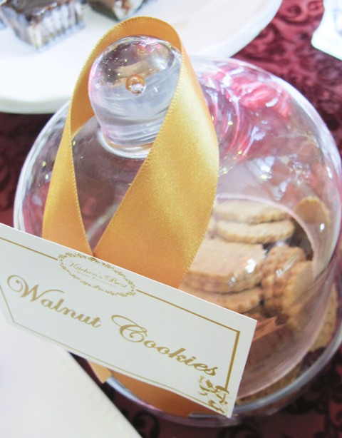 walnut cookies in a glass jar
