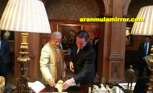 Aranmula Mirror Narendra Modi and David Cameron