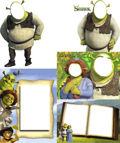 Marcos Gratis para fotos y Cliparts de Shrek.