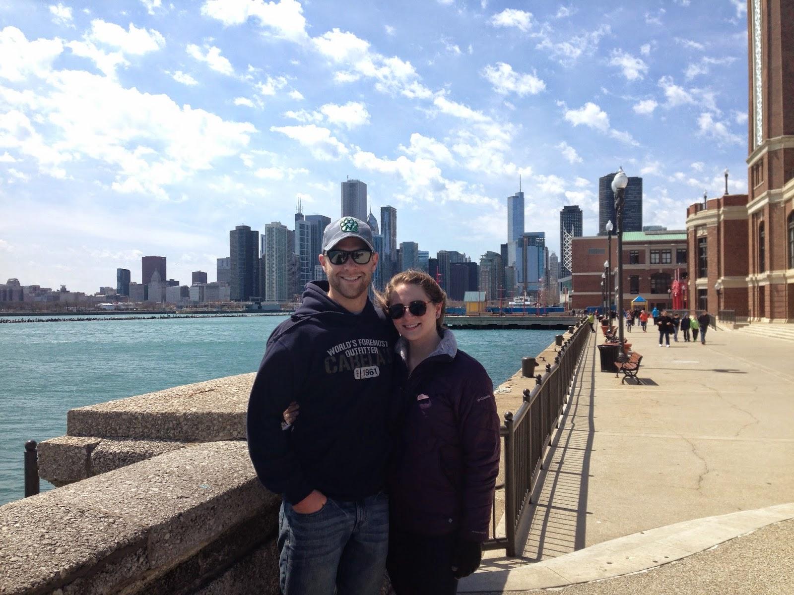 views of the chicago sky line