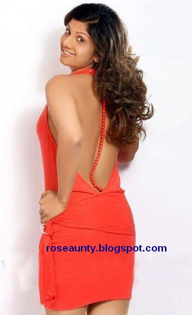 rambha showing back with out bra
