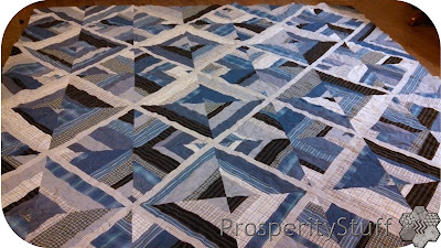 ProsperityStuff Finished Blue Shirt Quilt