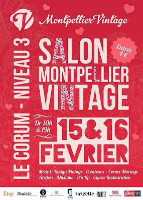 Affiche du Salon Montpellier Vintage 2014