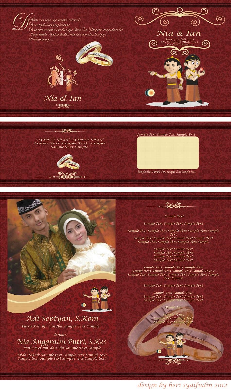 Desain Ulem / Undangan Pernikahan Created Heri Syaifudin SMK Muh 3 Ska