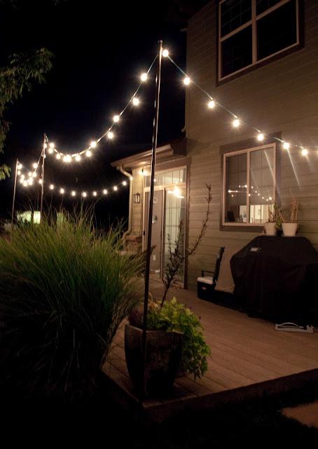 bright july diy outdoor string lights. Black Bedroom Furniture Sets. Home Design Ideas