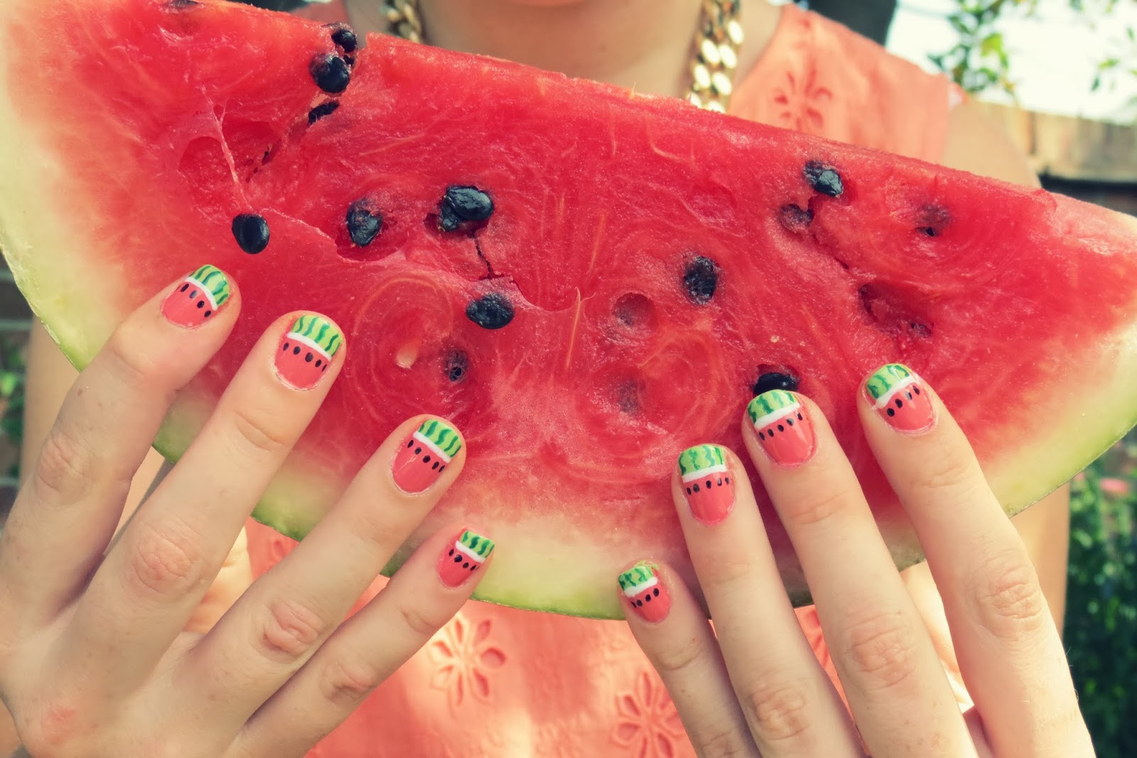 watermelon+melon+nails+nail+art+tutorial+with+easy+diy+blog+blogger