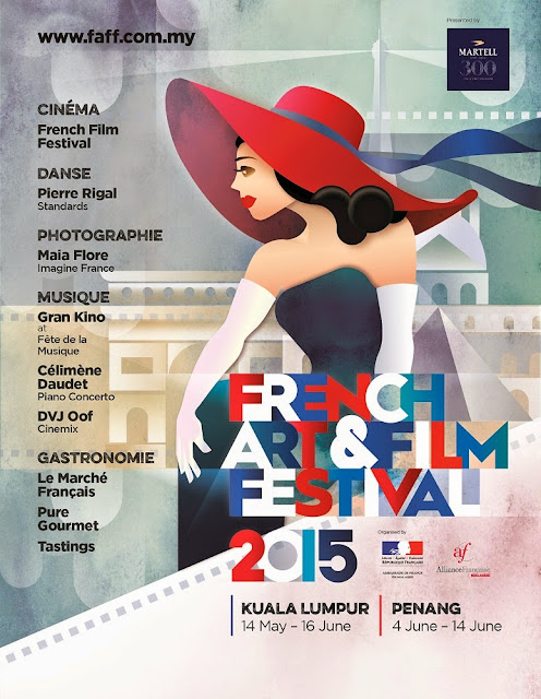 French Art Festival 2015 Malaysia poster FAFF