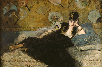 Édouard Manet. Lady with Fans (Portrait of Nina de Callias), 1873 at AIC, Impressionism, Fashion and Modernit