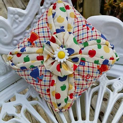 how to make a cathedral window pincushion
