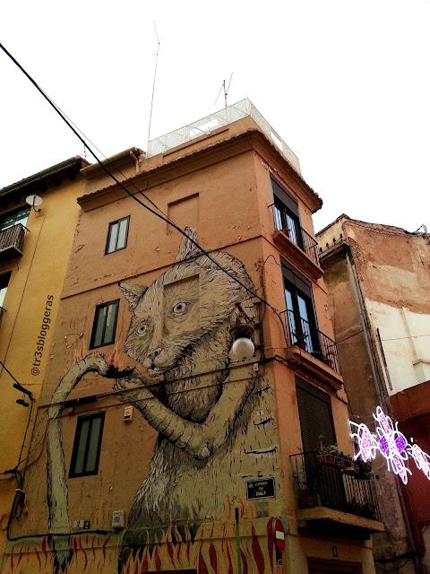 Street Art, Arte Urbano, Barrio El Carmen, Gato ESCIF