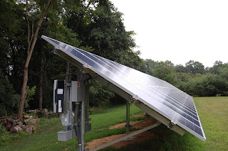 Another side view of the solar array