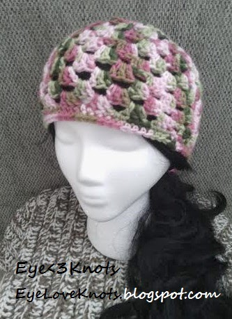 EyeLoveKnots: Crochet Adult Granny Square Beanie in Pink ...