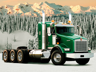 Green Kenworth T800 Truck Snow Landscape HD Wallpaper