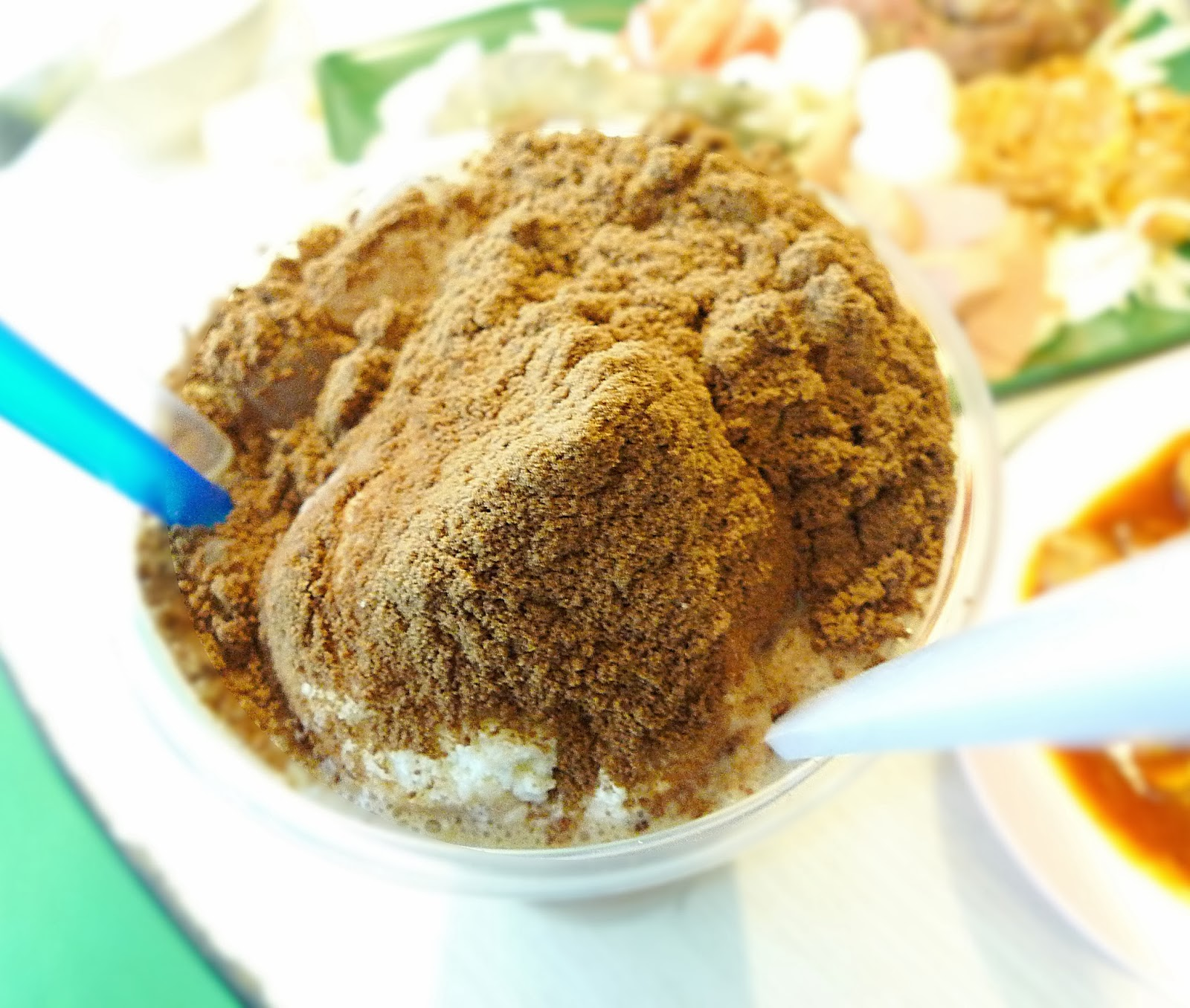 Milo godzilla with vanilla ice-cream
