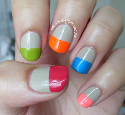 Kate Spade Color Block Nails