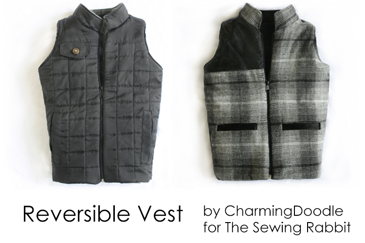 Reversible Vest  ||  #SewingRabbitFallCollection  ||  Flap Pocket DIY