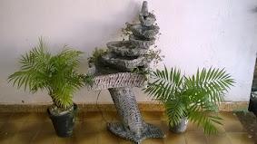 Ref : 17608 - Cascatas móvel Semelhante à pedra Sabão com Coluna ( coluna opcional )