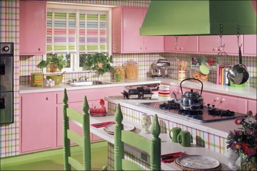 Cuisines colorées de style vintage ~ Décor de Maison / Décoration ...