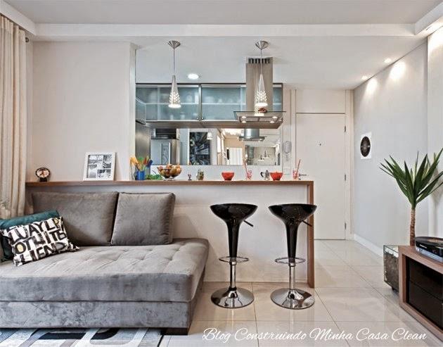 Construindo minha casa clean 25 cozinhas integradas com for Decoracion piso 30m2