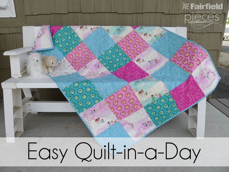 Quilt Patterns To Make In A Day : Pieces by Polly: Wee Wander Easy Quilt-in-a-Day