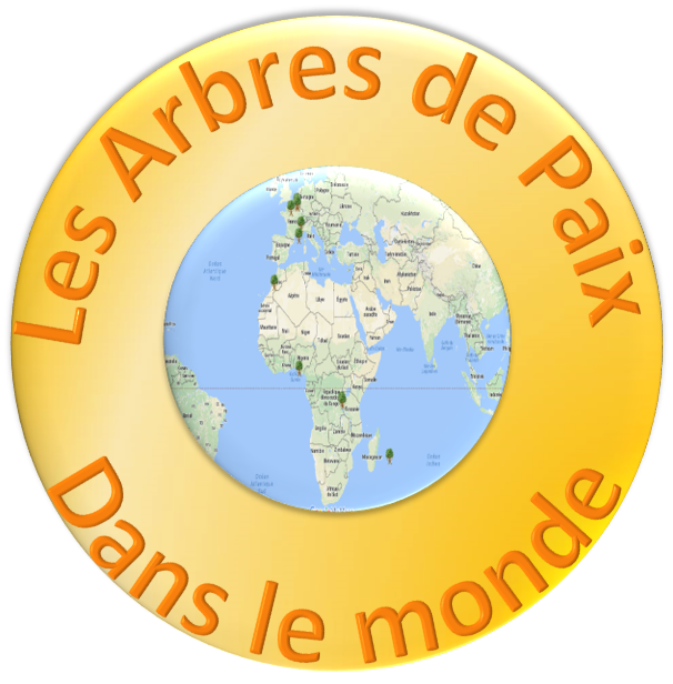 Mappemonde des écoles qui pratiquent le programme des Arbres de Paix dans le monde