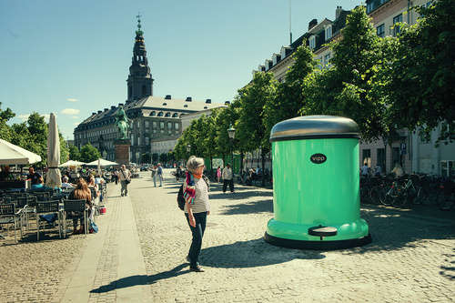 giant Vipp Bin to Keep Copenhagen city Green