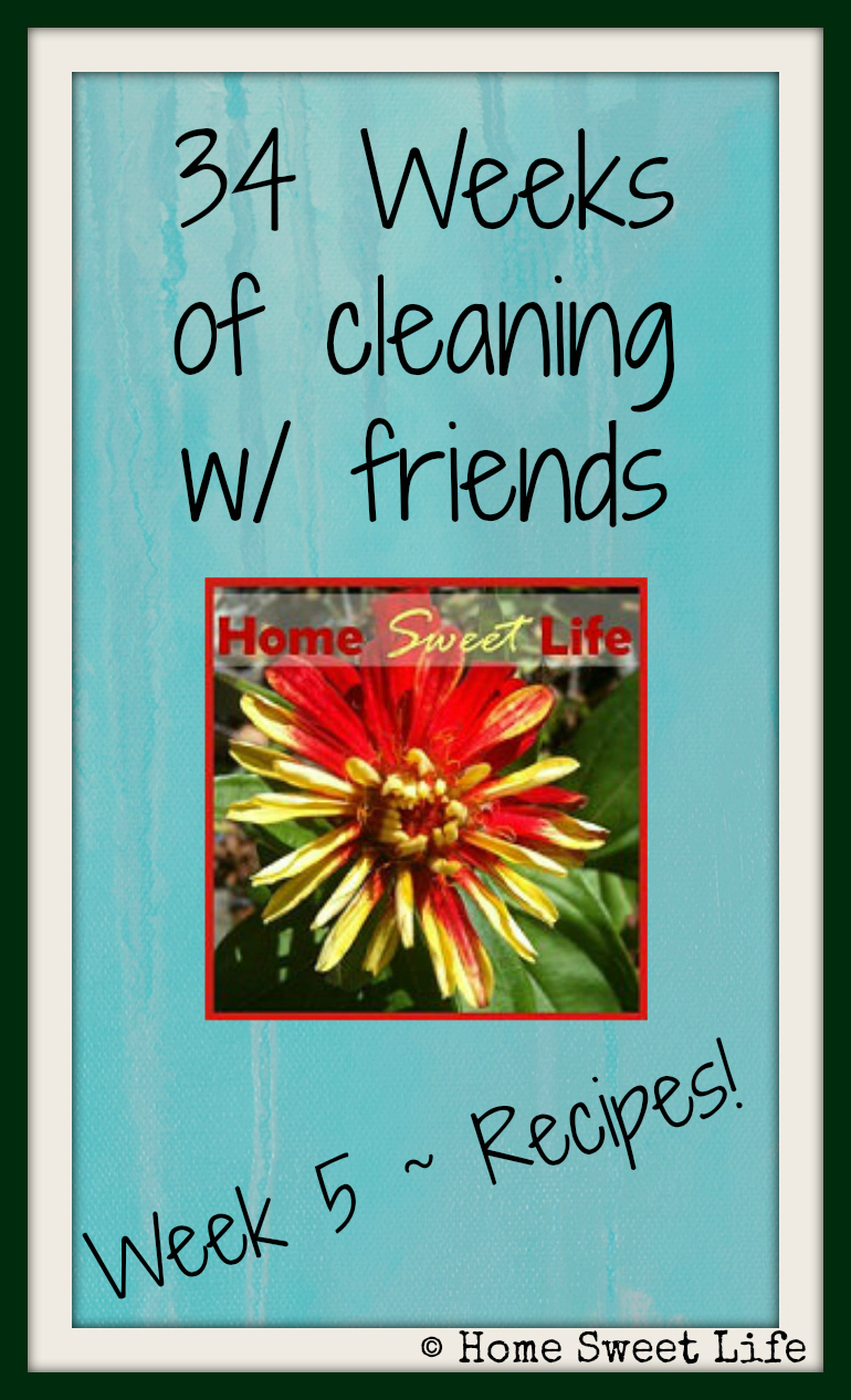 week 5 of cleaning with friends - recipes