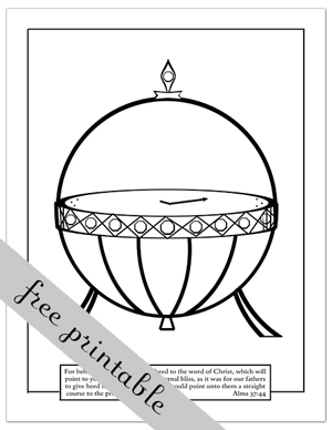 coloring pages nephi liahona - photo#28