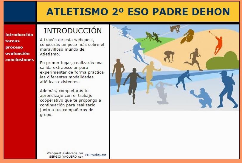 EDUCACIÓN FÍSICA 2º ESO: WEBQUEST ATLETISMO 2º ESO y ACTIVIDADES DE ...