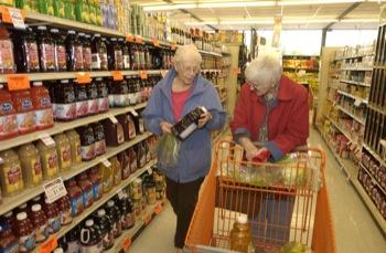 Grocery shopping for elderly