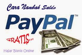 Cara Super Cepat Menambah Saldo Paypal Gratis