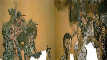 La obra más emblemática de Leon Golub «Vietnam II» realizada en 1973