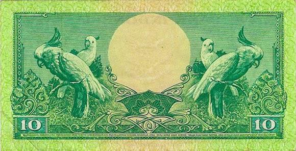 uang kuno 10 rupiah 1959 seri bunga