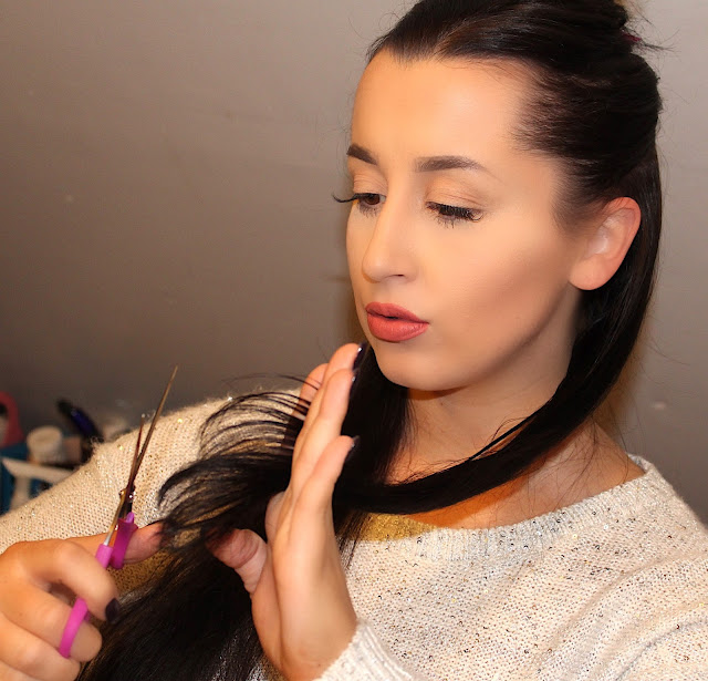 DIY Hair Care Tutorial: 7 Steps On How I Cut My Long Hair At Home - Ashley Elizabeth
