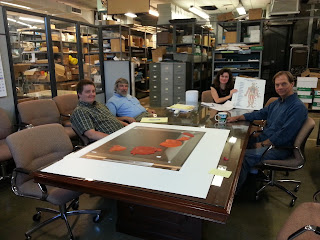 APH Staff & Pres of Touch Graphics working on tactile graphic of exhibit