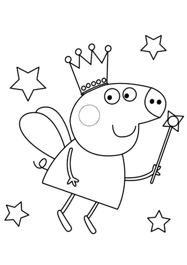 Peppa pig stencil cake ideas and designs for Peppa pig coloring pages pdf