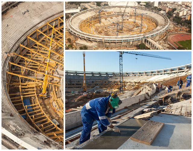 Situação das obras do Estádio Maracanã em julho de 2012