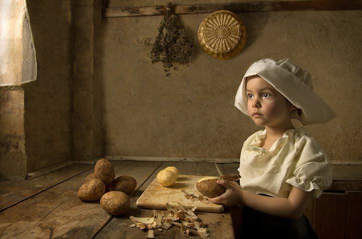 5歳の少女がモデルをしている写真が、すごく印象に残るアートになっている