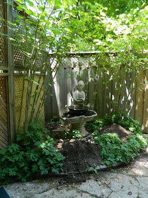 Ravina Crescent back garden renovation before by Paul Jung Gardening Services Toronto