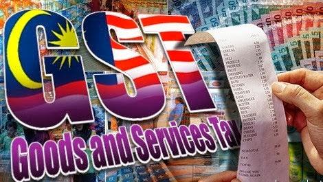 Senarai barangan yang dikenakan GST