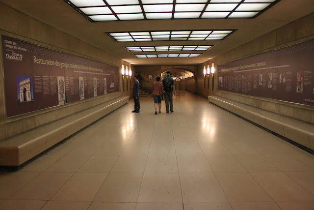 The basement of Arc de Triomphe in Paris, France