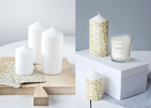 Decoraci n f cil decorar velas facilmente for Decorar jarrones con velas