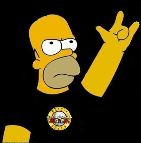 Homer Simpson Rock and Roll